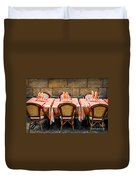 Restaurant Patio In France Duvet Cover