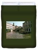 Rialto Bridge In The Grand Canal Duvet Cover