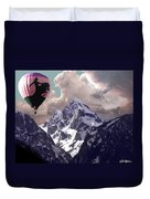 Riding The Tetons Duvet Cover