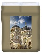Riga Orthodox Cathedral Duvet Cover