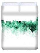 Rio De Janeiro Skyline In Watercolor On White Background Duvet Cover