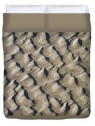 Ripple Pattern On Mudflat At Low Tide Duvet Cover