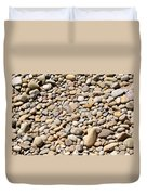 River Rocks Pebbles Duvet Cover