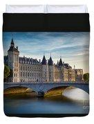 River Seine And Conciergerie Duvet Cover
