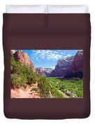 River Through Zion Duvet Cover