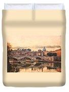 River Tiber In Rome Duvet Cover