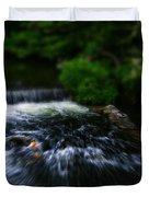 River Wye Waterfall - In Bakewell Peak District - England Duvet Cover