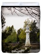 Roath Park Lighthouse Duvet Cover