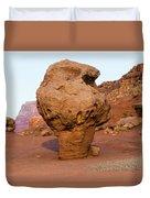 Rock Formations In A Desert, Vermilion Duvet Cover