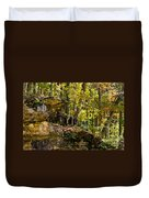 Rock Shelf And Forest Duvet Cover