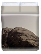 Rocky Hill In The Scottish Highlands Duvet Cover