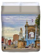 Roebling Bridge 9872 Duvet Cover
