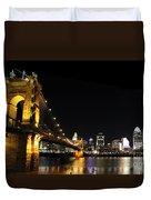 Roebling Suspension Bridge Pano 3 Duvet Cover