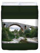 Roman Arch Bridge Pont St. Julien Duvet Cover