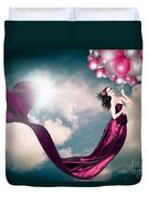 Romantic Girl In Love With Beauty And Fashion Duvet Cover