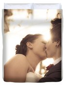 Romantic Wedding Kiss Duvet Cover