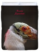 Roseate Spoonbill Duvet Cover