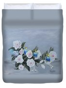 Roses And Candlelight Duvet Cover