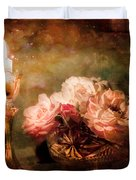 Roses By Candlelight Duvet Cover