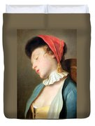 Rotari's A Sleeping Girl Duvet Cover
