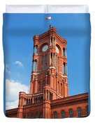 Rotes Rathaus The Town Hall Of Berlin Germany Duvet Cover