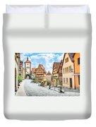 Rothenburg Ob Der Tauber Duvet Cover