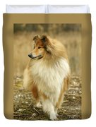 Rough Collie Dog Duvet Cover