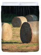 Round Hay Bales Duvet Cover