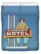 Route 66 - Cowboy Motel Duvet Cover