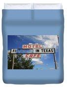 Route 66 - Glenrio Texas Duvet Cover