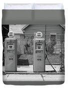 Route 66 - Illinois Gas Pumps Duvet Cover