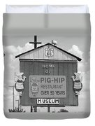 Route 66 - Pig-hip Restaurant Duvet Cover