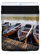 Rowboats Duvet Cover