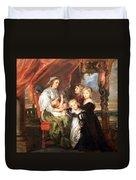 Rubens' Deborah Kip -- Wife Of Sir Balthasar Gerbier -- And Her Children Duvet Cover