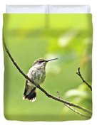 Ruby-throated Hummingbird - Immature Female - Archilochus Colubris  Duvet Cover