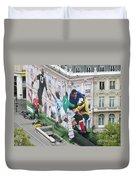 Rugby In Paris Duvet Cover