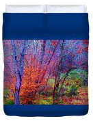 Run Forest Run Duvet Cover