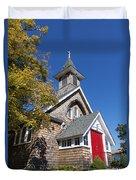 Rural Church Duvet Cover