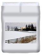 Rural Winter Landscape Duvet Cover by Elena Elisseeva
