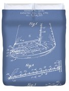 Sailboat Patent From 1996 - Vintage Duvet Cover