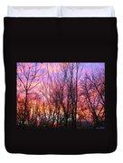 Red Sky In Morning Duvet Cover