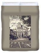 Saint Peters Basilica Rome Duvet Cover