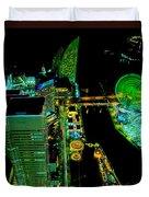 Sakuragicho At Night Duvet Cover