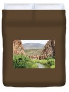 Salt River Above Roosevelt Lake Duvet Cover