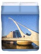 Samuel Beckett Bridge Dublin Duvet Cover