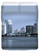San Diego At Night Duvet Cover
