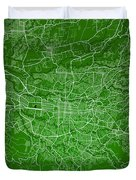 San Jose Street Map - San Jose Costa Rica Road Map Art On Colore Duvet Cover