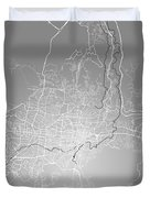 San Salvador Street Map - San Salvador El Salvador Road Map Art  Duvet Cover
