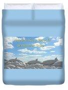 Sand Dolphins Duvet Cover