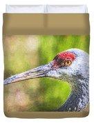 Sandhill Crane Grus Canadensis Duvet Cover